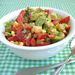 Mexican Salad with Coriander and Macadamias (square)