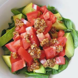 Basil mustard salad (square)