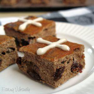Raw hot cross buns (square)