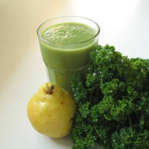Parsley Pear Green Smoothie (square)
