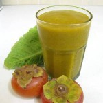 Persimmon lettuce green smoothie (square)