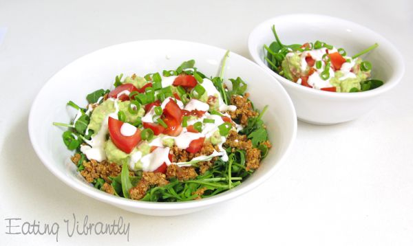 Raw taco salad bowls