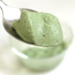 Natural green ice cream (square)
