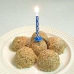 "Coconut macaroon birthday ""cake"""