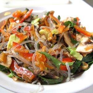 Kelp noodle chili salad