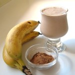 Raw carob banana smoothie