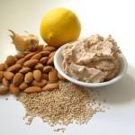 Raw almond pulp hummus