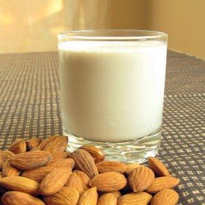 Raw Vegan Almond Milk Glass