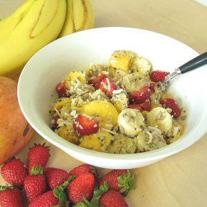 Hemp coconut fruit salad recipe