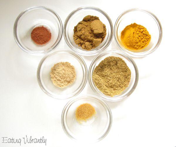 Homemade mild curry powder ingredients