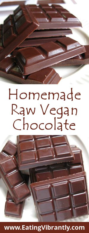 Homemade Raw Vegan Chocolate recipe - Simple, delicious and definitely worth the effort @ Eating Vibrantly