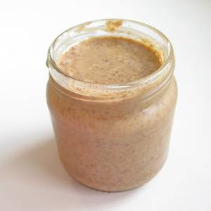 Raw Almond Butter in jar
