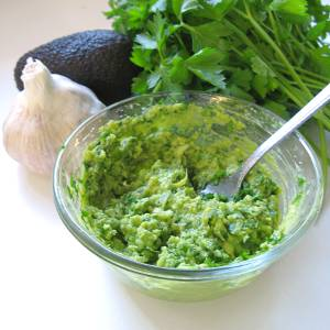 Raw Vegan Garlic Butter in a bowl