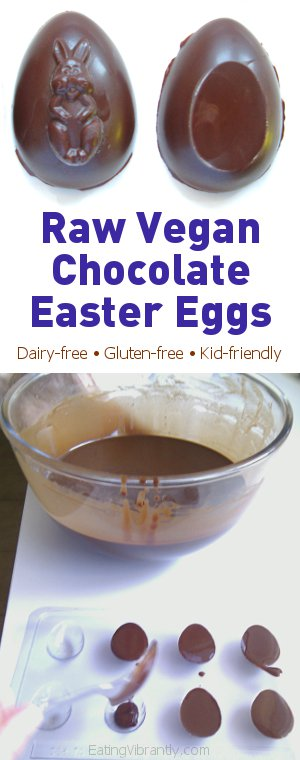 Raw Vegan Chocolate Easter Eggs - Join in the festivities guilt-free with these dairy-free, sugar-free treats @ Eating Vibrantly