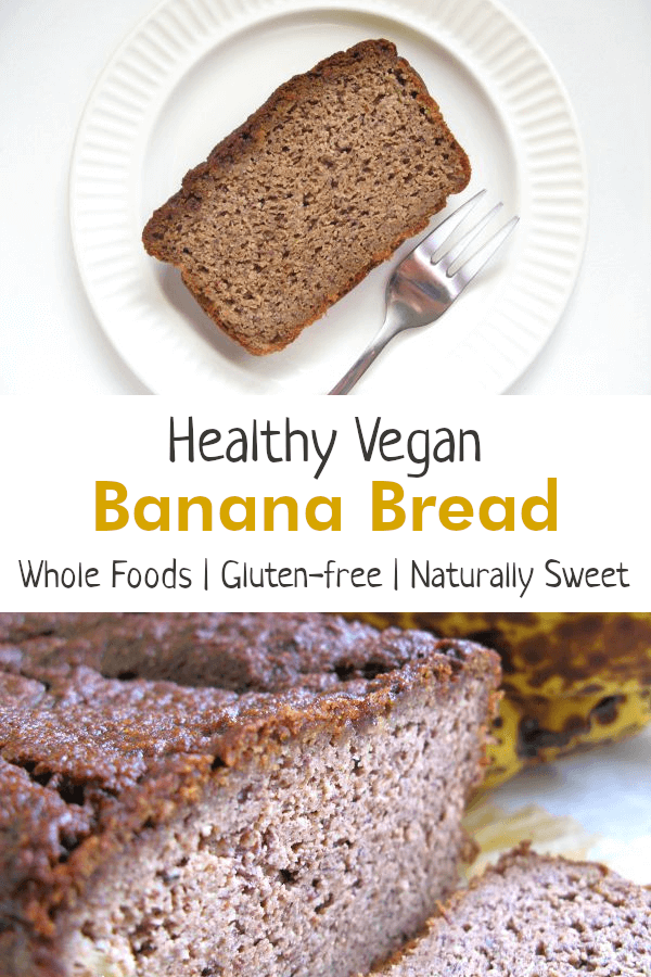 Healthy Vegan Banana Bread recipe - Gluten-Free with No Added Sugar
