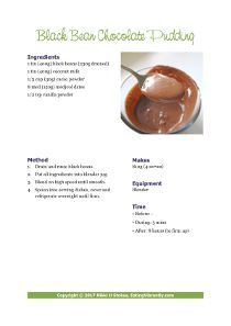 Black Bean Chocolate Pudding PDF