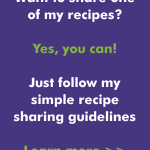 Recipe Sharing Guidelines