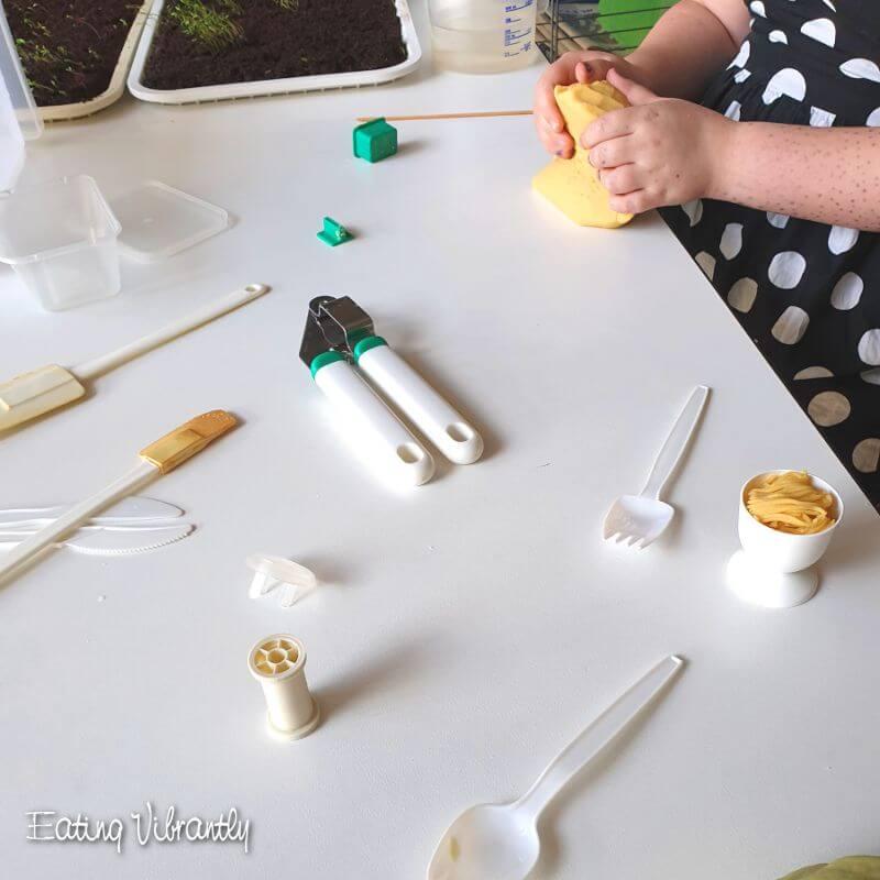 Easy No-Cook Playdough Tool Ideas