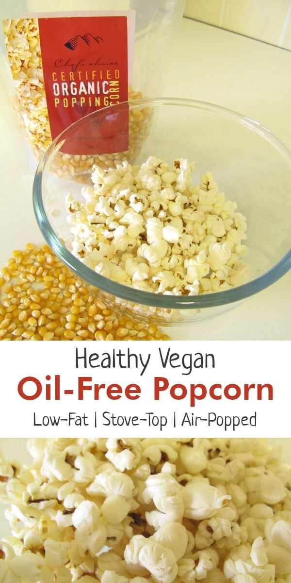 Healthy Vegan Popcorn Recipe for Air Popped Popcorn Without Oil @ Eating Vibrantly