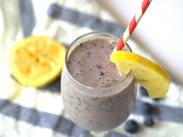 Almond Butter Lemon Blueberry Smoothie