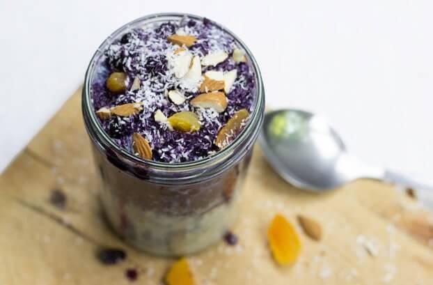 Quinoa Breakfast Porridge with Hot Blueberry Drizzle