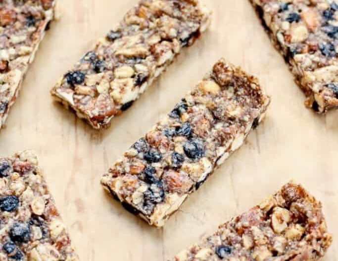 Vanilla Blueberry Cashew Almond Snack Bars